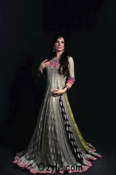 New Indian Fashion Long Shirt Anarkali Dresses for Girls 2014-2015 Fancy Embroidered Collection (21)