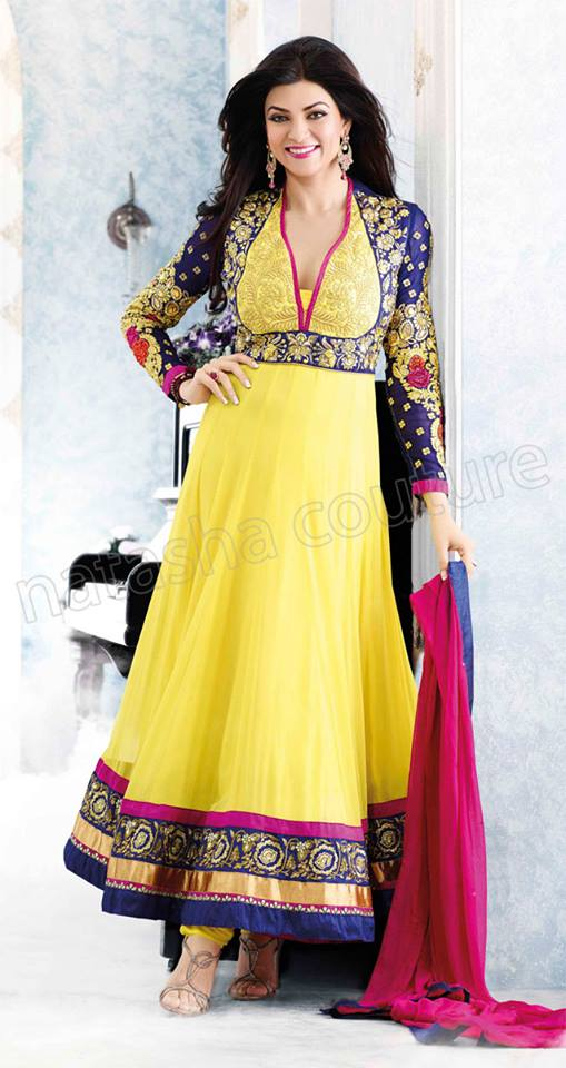 New Indian Fashion Long Shirt Anarkali Dresses for Girls 2014-2015  Fancy Embroidered Collection (26)