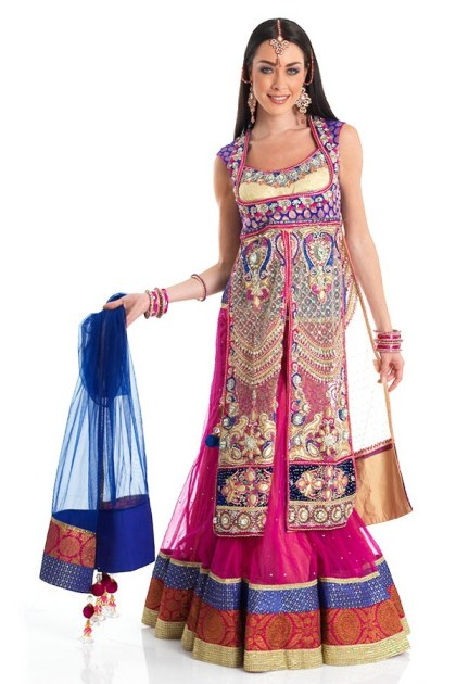 New Indian Fashion Long Shirt Anarkali Dresses for Girls 2014-2015  Fancy Embroidered Collection (28)