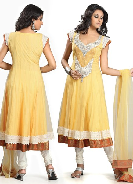 New Indian Fashion Long Shirt Anarkali Dresses for Girls 2014-2015  Fancy Embroidered Collection (7)