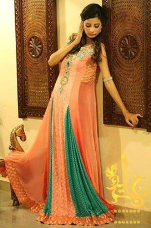 New Indian Fashion Long Shirt Anarkali Dresses for Girls 2014-2015 Fancy Embroidered Collection (9)