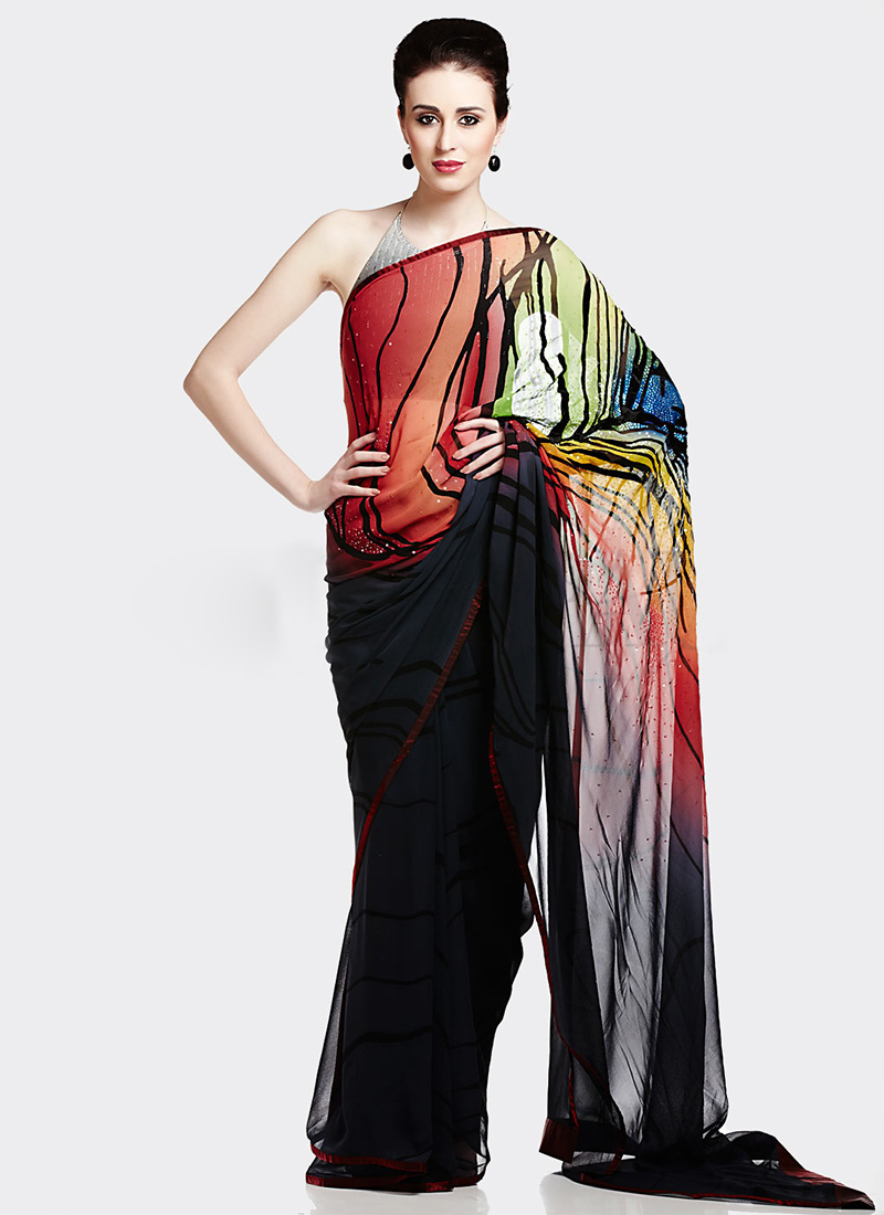 New Satya Paul Best Indian Designer Saree Collection for Women 2015-2016 (11)