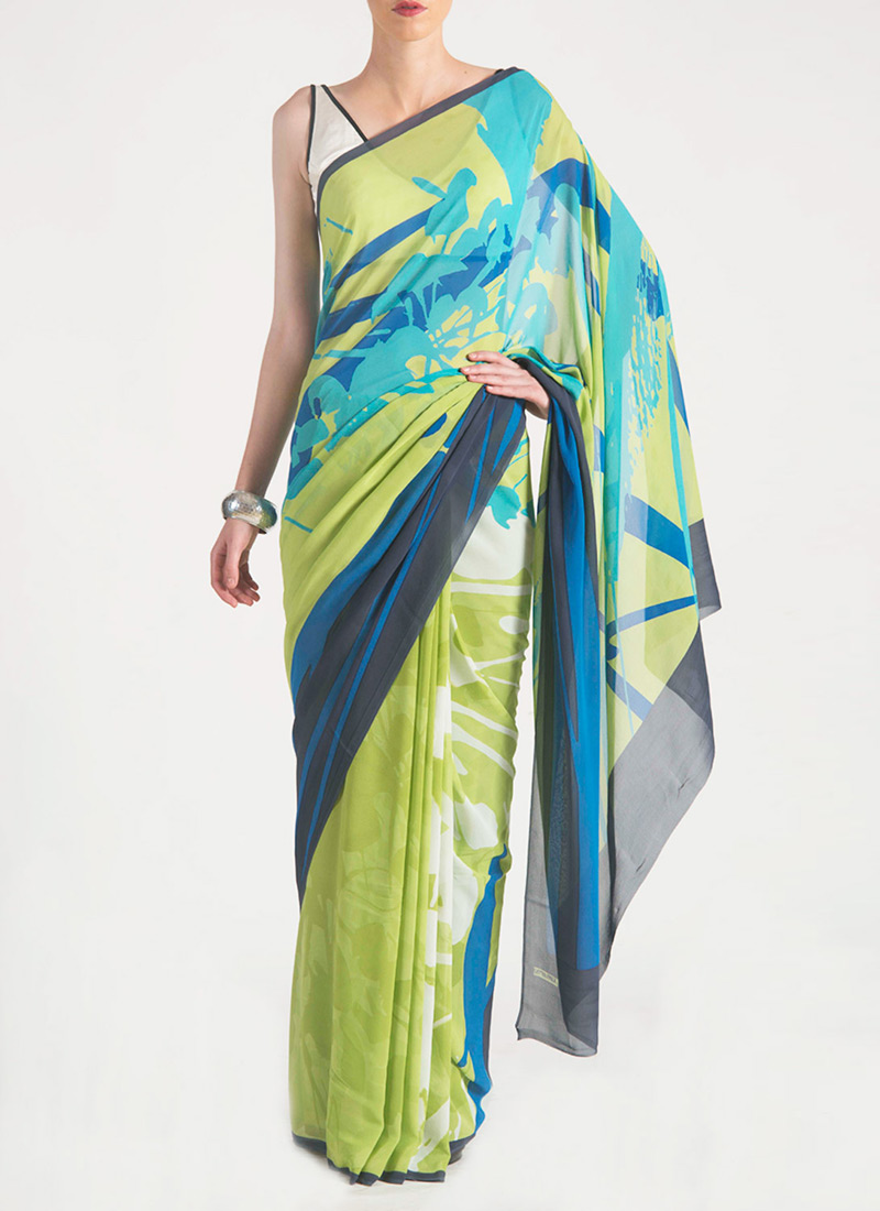 New Satya Paul Best Indian Designer Saree Collection for Women 2015-2016 (12)