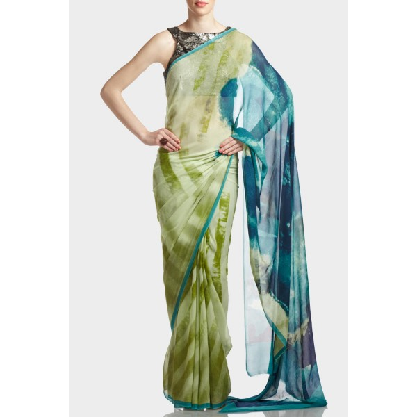 New Satya Paul Best Indian Designer Saree Collection for Women 2015-2016 (20)