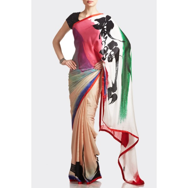 New Satya Paul Best Indian Designer Saree Collection for Women 2015-2016 (25)
