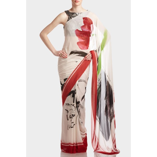 New Satya Paul Best Indian Designer Saree Collection for Women 2015-2016 (26)
