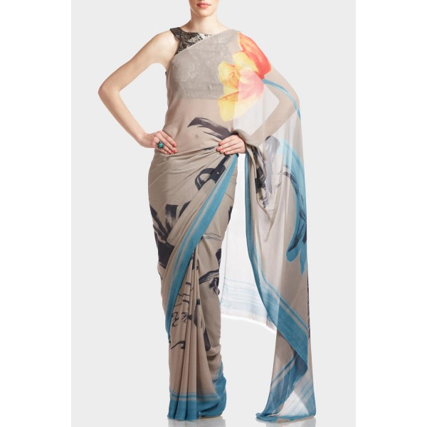 New Satya Paul Best Indian Designer Saree Collection for Women 2015-2016 (27)
