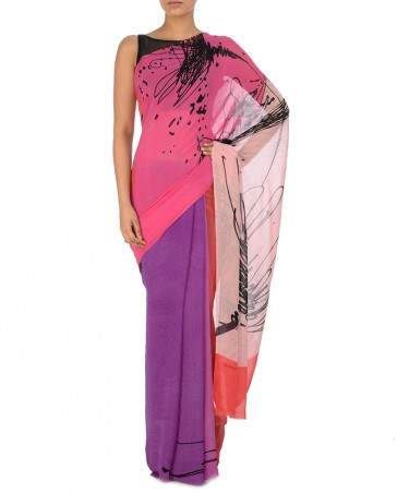 New Satya Paul Best Indian Designer Saree Collection for Women 2015-2016 (3)