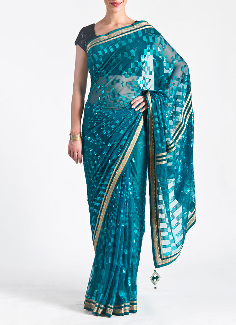 New Satya Paul Best Indian Designer Saree Collection for Women 2015-2016 (35)