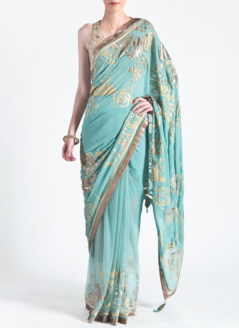 New Satya Paul Best Indian Designer Saree Collection for Women 2015-2016 (36)