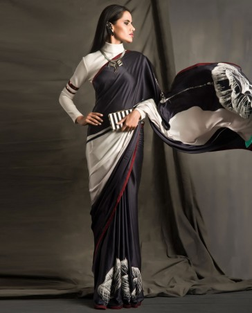 New Satya Paul Best Indian Designer Saree Collection for Women 2015-2016 (5)