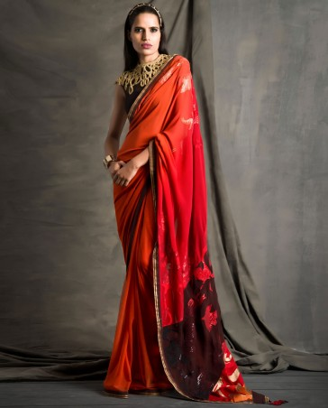 New Satya Paul Best Indian Designer Saree Collection for Women 2015-2016 (6)