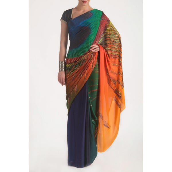 New Satya Paul Best Indian Designer Saree Collection for Women 2015-2016 (9)