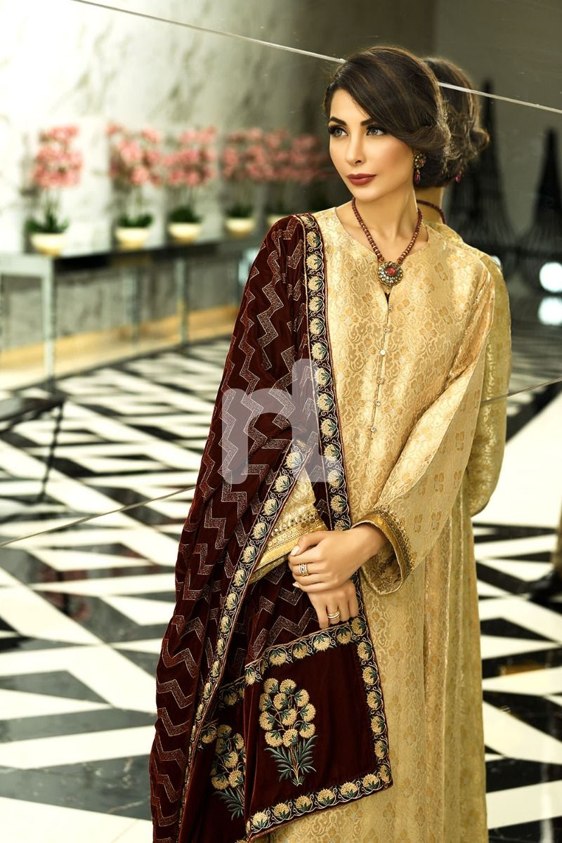 Nishat Linen Pakistani Winter Formal Dresses Designs