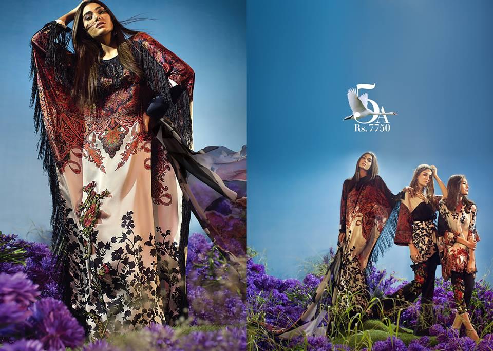 Sana Safinaz Silk Chiffon Dresses Designs Collection 2017-2018 images 8