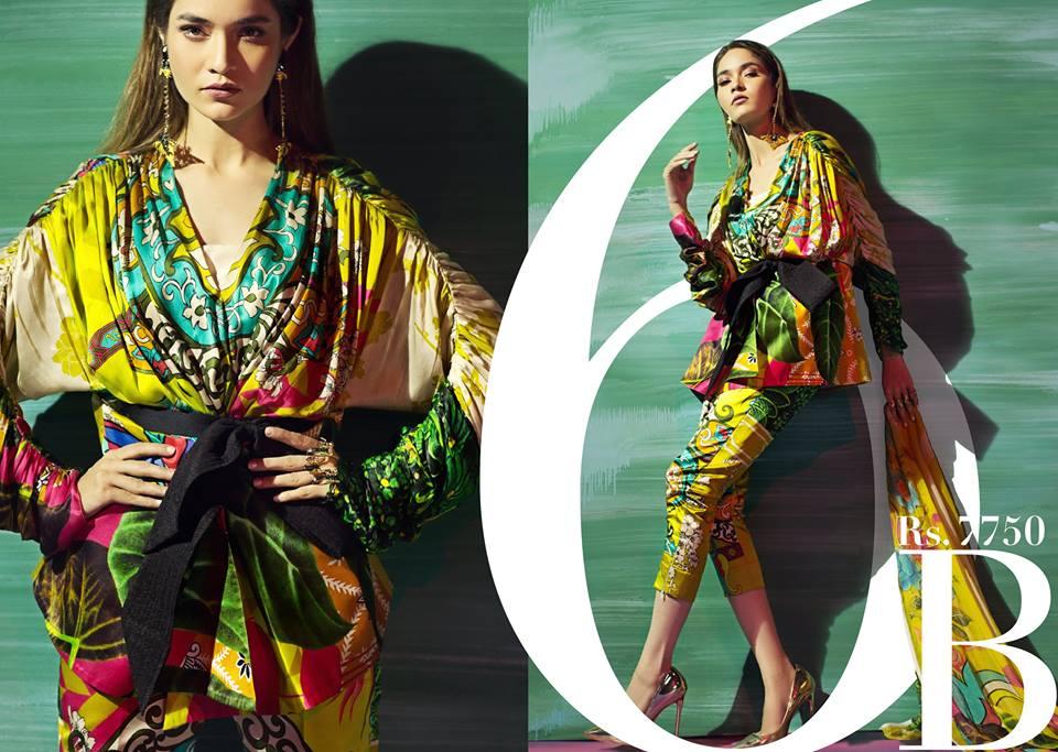 Sana Safinaz Silk Chiffon Dresses Designs Collection 2017-2018 images 0