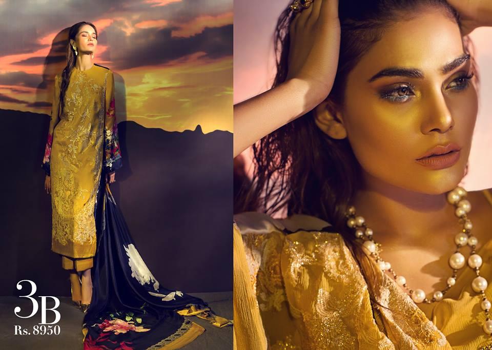 Sana Safinaz Silk Chiffon Dresses Designs Collection 2017-2018 images 5