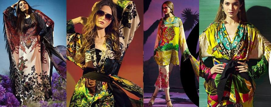 Sana Safinaz Silk Chiffon Dresses Designs Collection 2017-2018