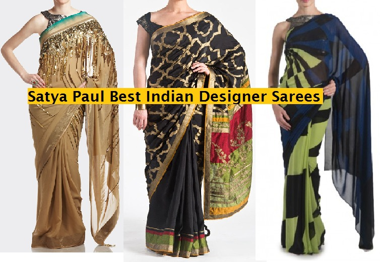 Satya Paul Best Indian Designer Saree Collection for women 2014-2015