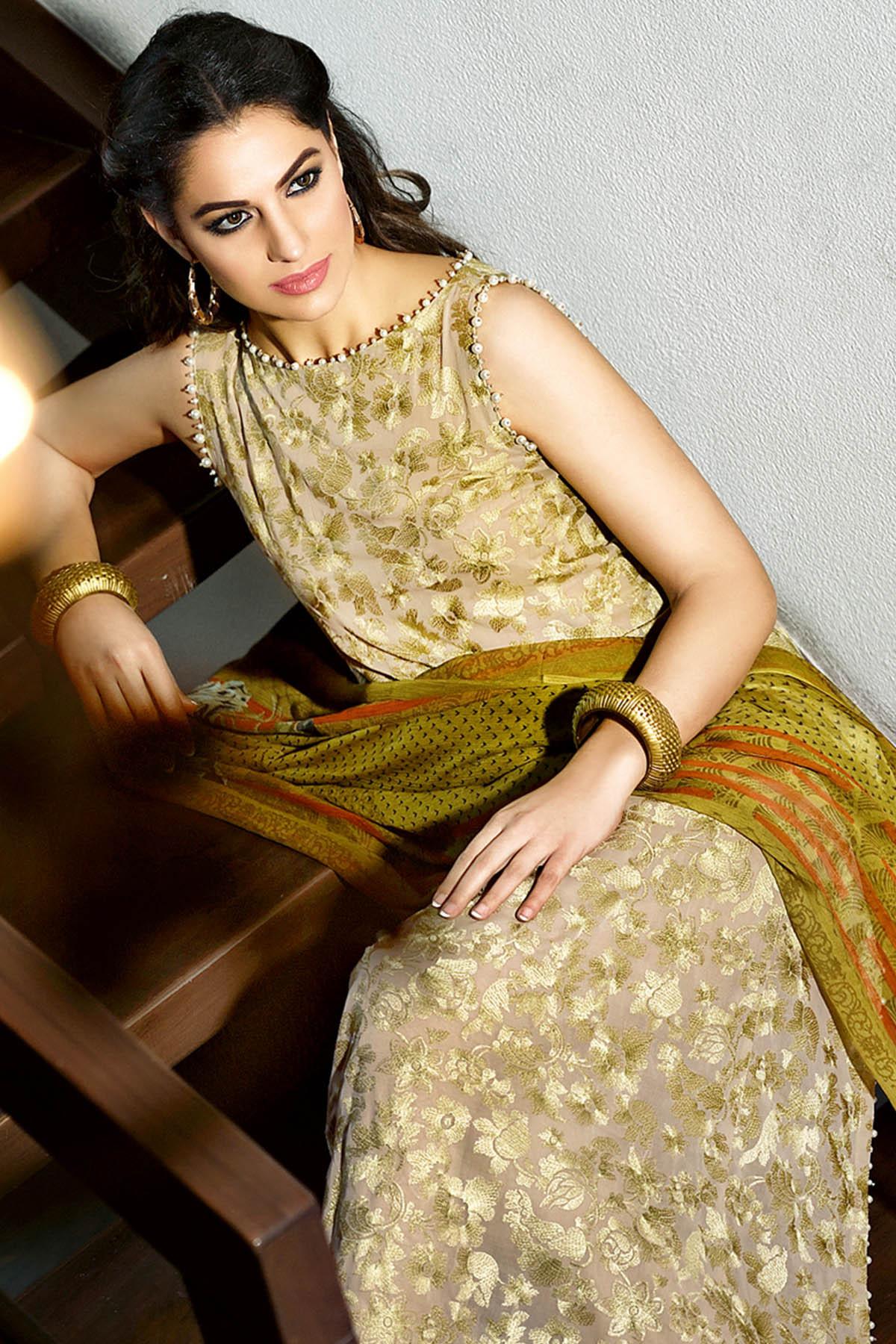 Gul Ahmed Summer Formal Dresses Silk & Chiffon Premium Collection 2017-18 (1)