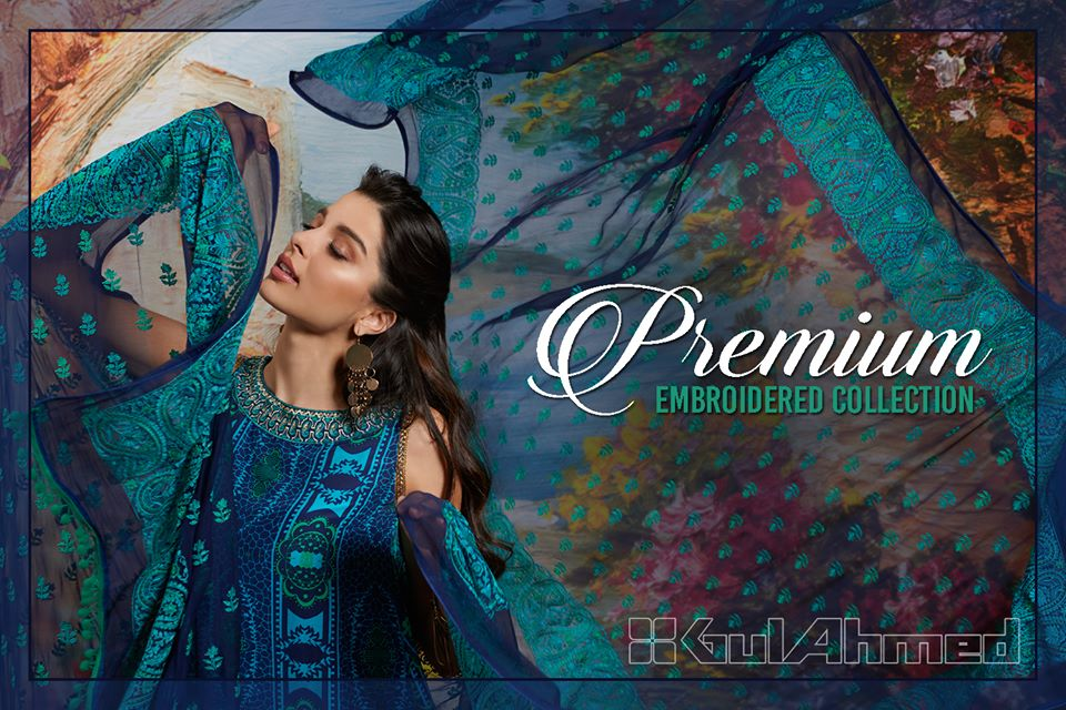 Gul Ahmed Summer Formal Dresses Silk & Chiffon Premium Collection 2017-18 (2)