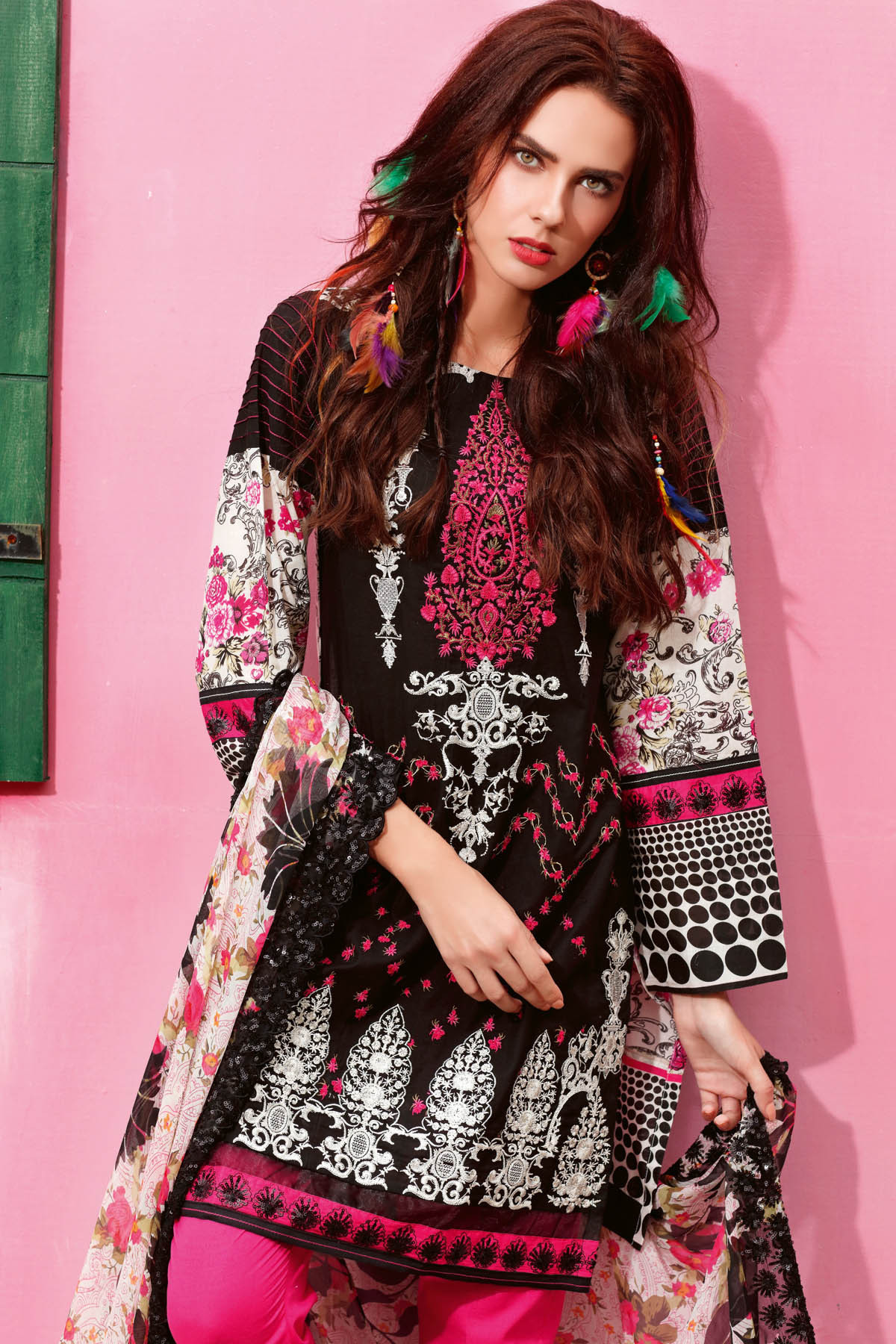 Gul Ahmed Summer Formal Dresses Silk & Chiffon Premium Collection 2017-18 (22)