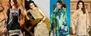 Gul Ahmed Summer Formal Dresses Silk & Chiffon Collection 2017-18