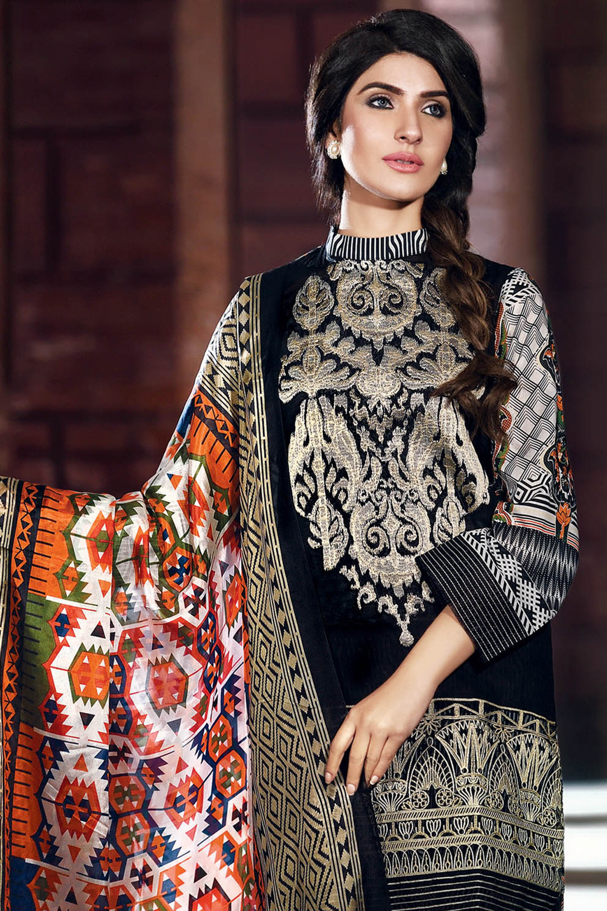 Gul Ahmed Summer Formal Dresses Silk & Chiffon Premium Collection 2017-18 (4)