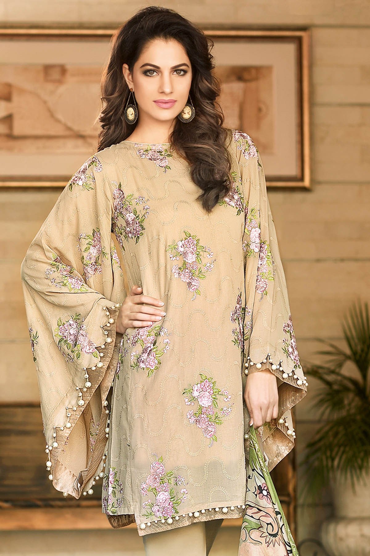 Gul Ahmed Summer Formal Dresses Silk & Chiffon Premium Collection 2017-18 (6)