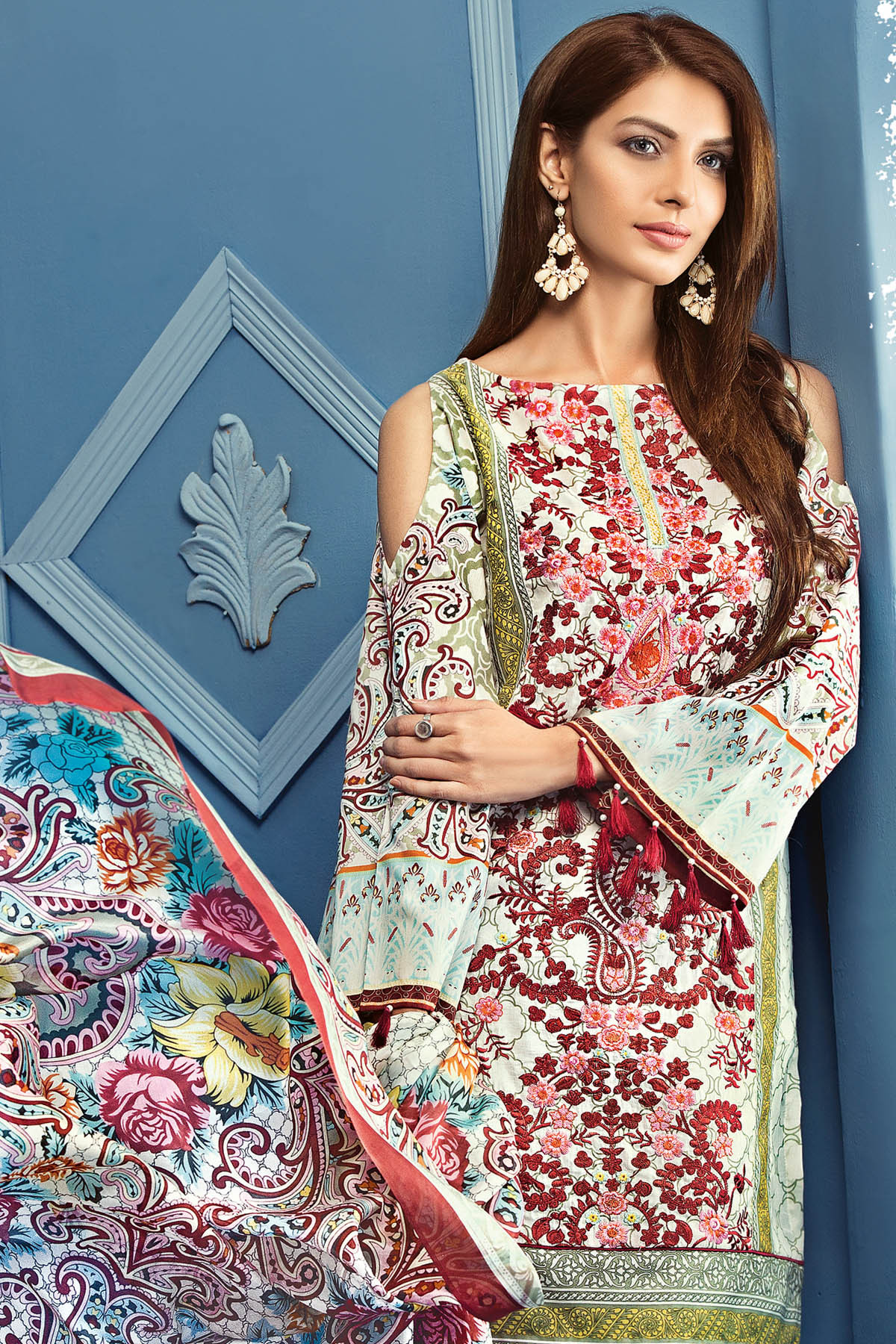 Gul Ahmed Summer Formal Dresses Silk & Chiffon Premium Collection 2017-18 (8)
