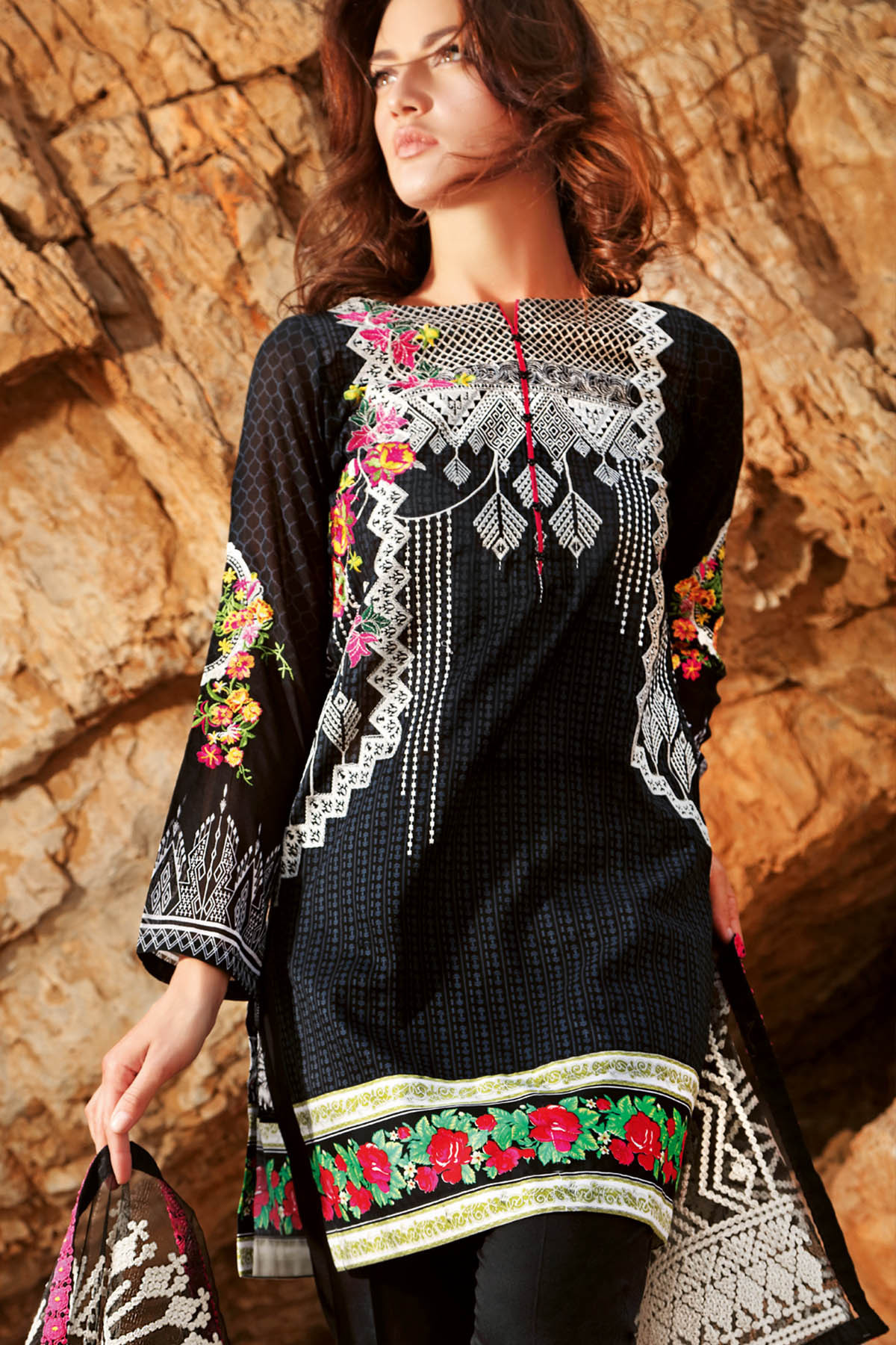 Gul Ahmed Summer Formal Dresses Silk & Chiffon Premium Collection 2017-18 (9)