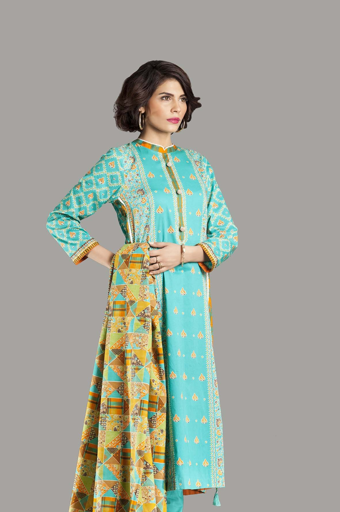 Kayseria Latest Winter Prints Best Shawls & Dresses Cambric Collection 2014-2015 (10)