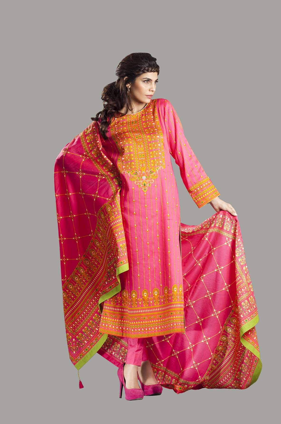 Kayseria Latest Winter Prints Best Shawls & Dresses 2014