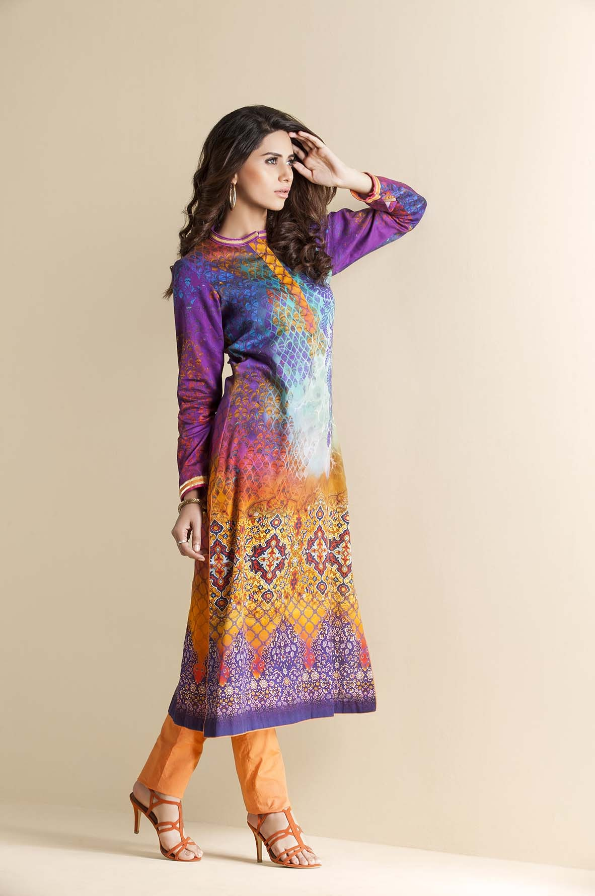 Kayseria Latest Winter Prints Best Shawls & Dresses Cambric Collection 2014-2015 (6)