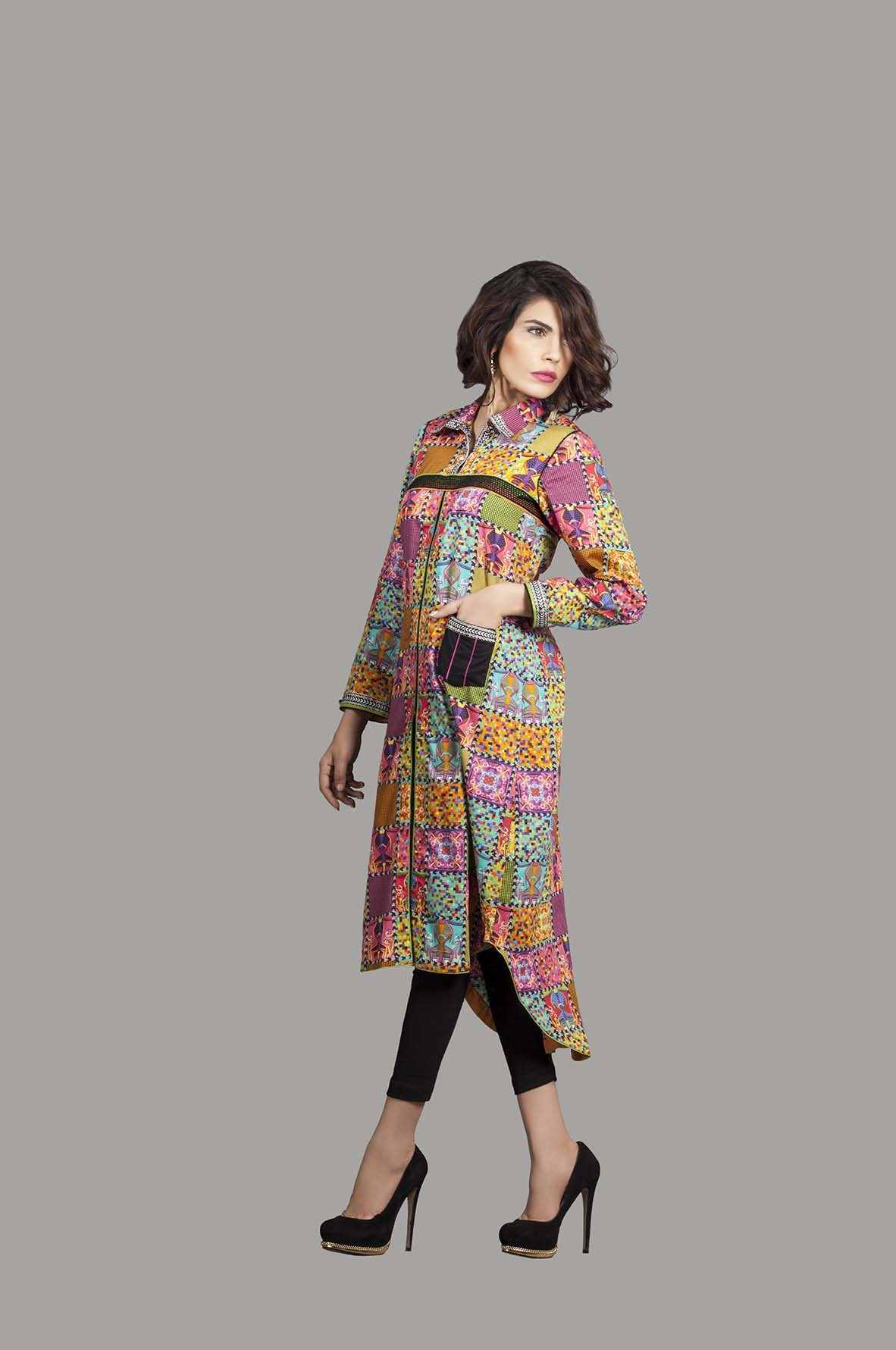Kayseria Latest Winter Prints Best Shawls & Dresses Cambric Collection 2014-2015 (7)