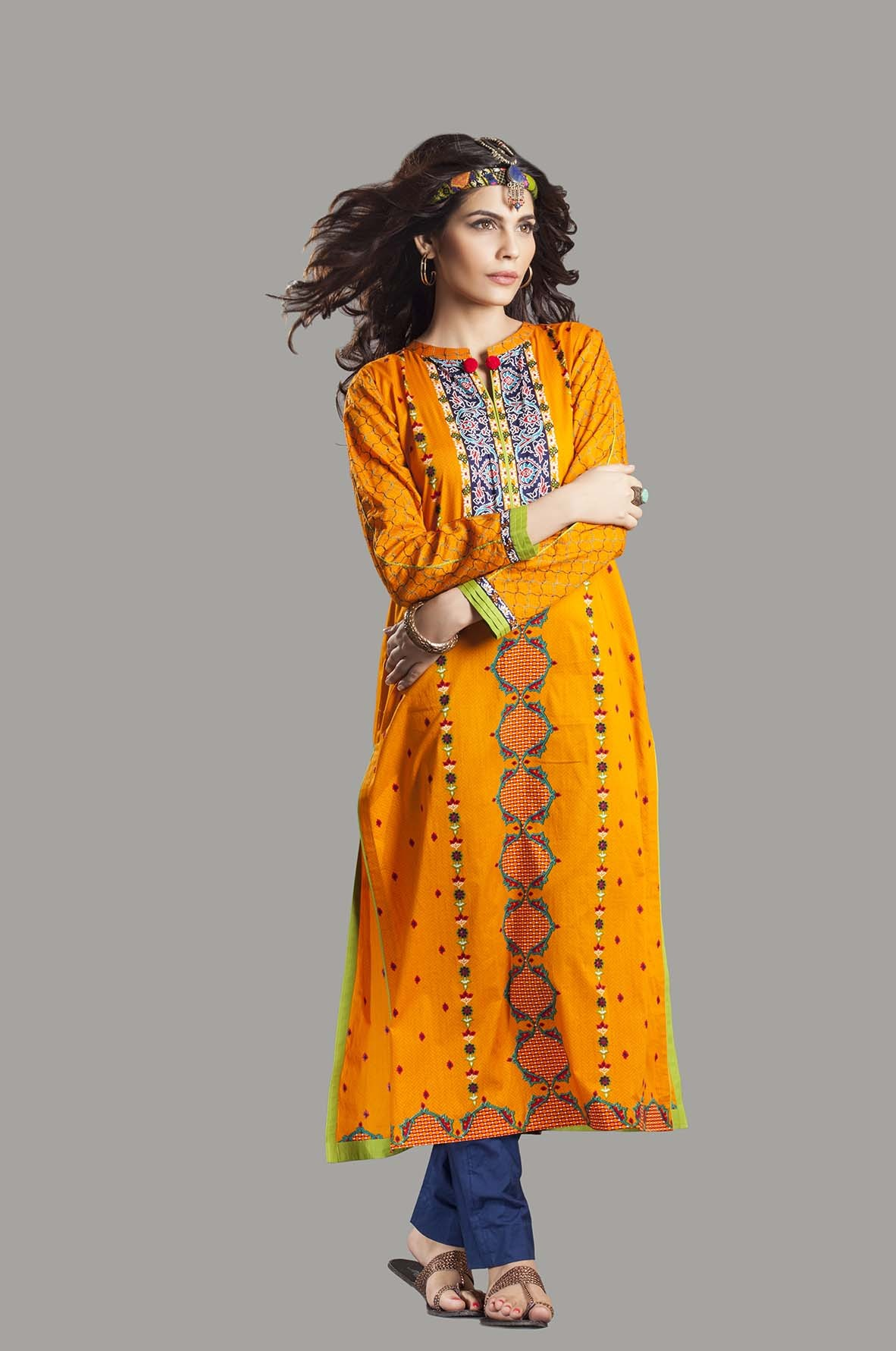 Kayseria Latest Winter Prints Best Shawls & Dresses Cambric Collection 2014-2015 (9)