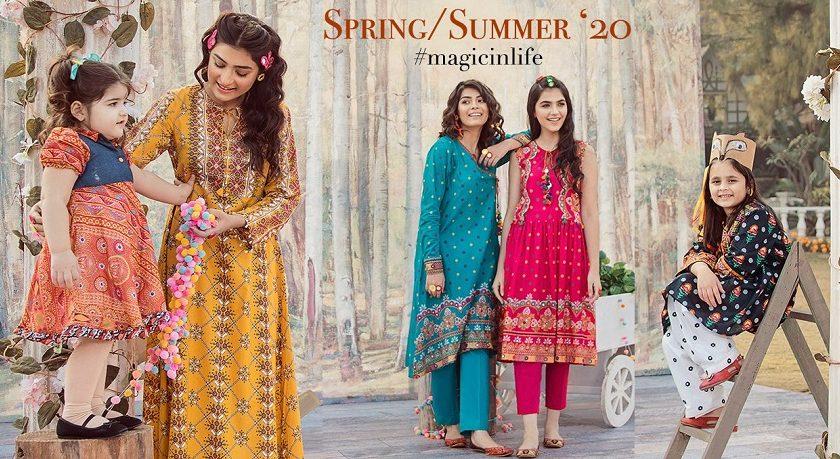 Kayseria Summer Embroidered Embellished Dresses for Women & Girls