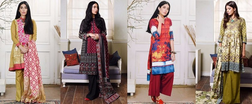 Khaadi Winter Collection Cambric Dresses Designs 2017-2018