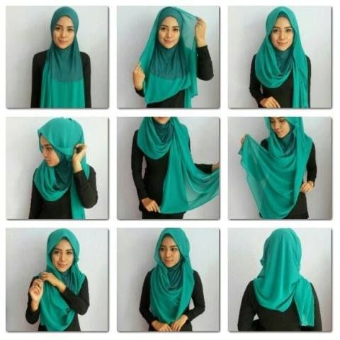 Latest Hijab Styles & Designs Tutorial with Pictures for Modern Girls 2015 (12)