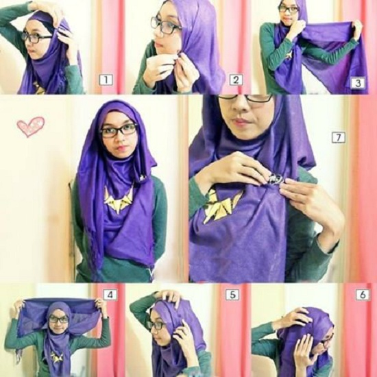 Latest Hijab Styles & Designs Tutorial with Pictures for Modern Girls 2015 (13)