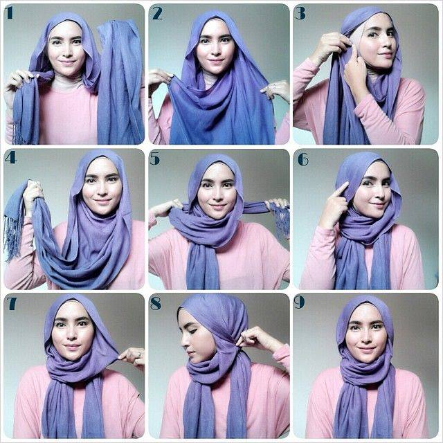 Latest Hijab Styles & Designs Tutorial with Pictures for Modern Girls 2015 (14)