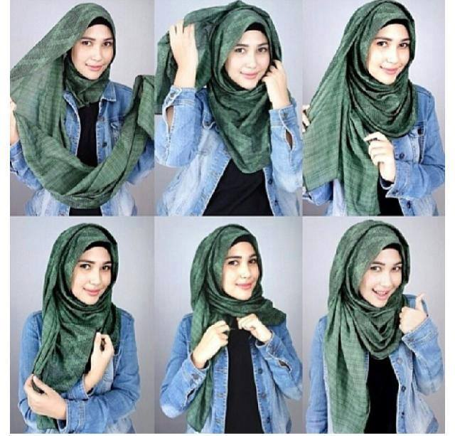Latest Hijab Styles & Designs Tutorial with Pictures for Modern Girls 2015 (15)