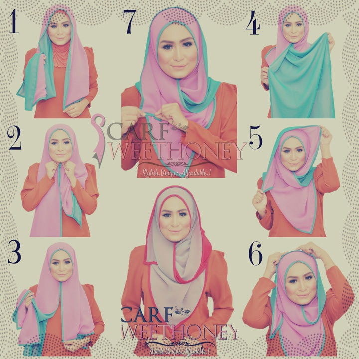 Latest Hijab Styles & Designs Tutorial with Pictures for Modern Girls 2015 (17)