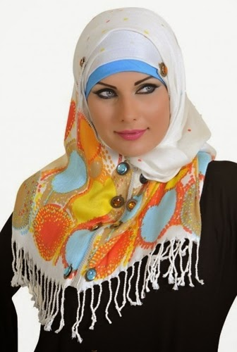 Latest Hijab Styles & Designs Tutorial with Pictures for Modern Girls 2015 (19)