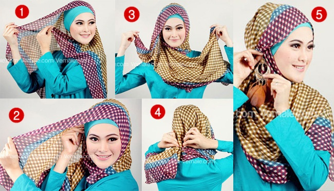 Latest Hijab Styles & Designs Tutorial with Pictures for Modern Girls 2015 (25)