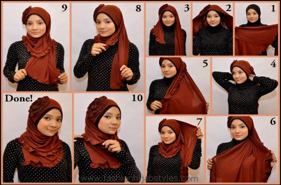 Latest Hijab Styles & Designs Tutorial with Pictures for Modern Girls 2015 (28)