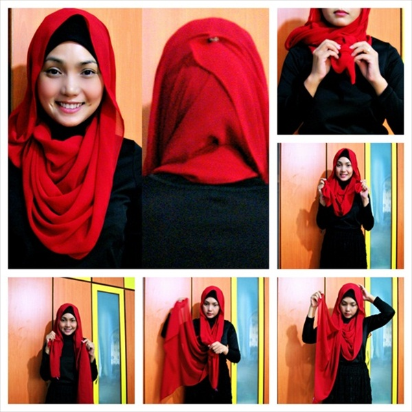 Latest Hijab Styles & Designs Tutorial with Pictures for Modern Girls 2015 (3)