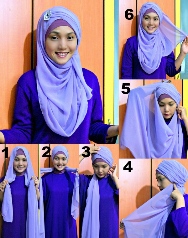 Latest Hijab Styles & Designs Tutorial with Pictures for Modern Girls 2015 (40)