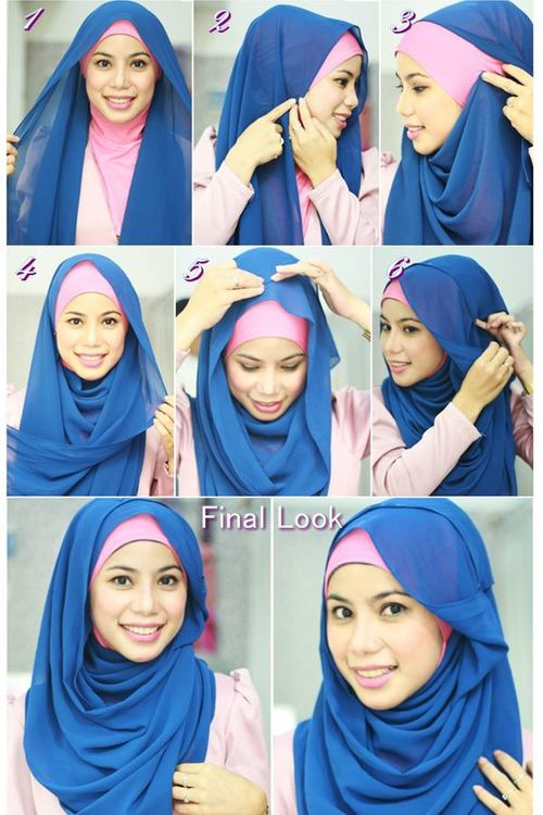 Latest Hijab Styles & Designs Tutorial with Pictures for Modern Girls 2015 (43)