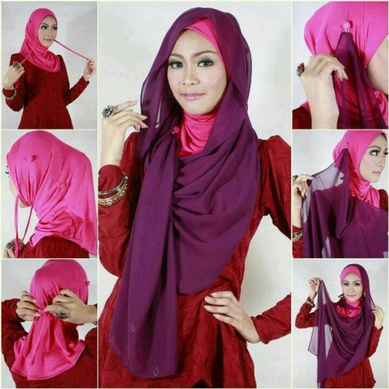 Latest Hijab Styles & Designs Tutorial with Pictures for Modern Girls 2015 (7)